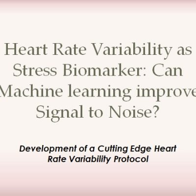 Heart Rate Variability as Stress Biomarker: Can Machine learning improve Signal to Noise?