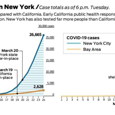 New York With 10 Times the Cases of California. Why?
