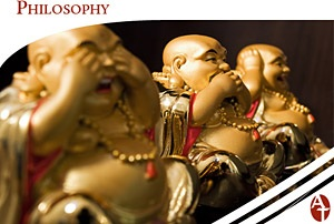Golden Chinese Sage Statues