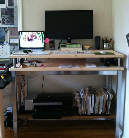 Stand up Ikea Desk