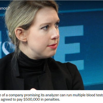 Theranos, still in the news